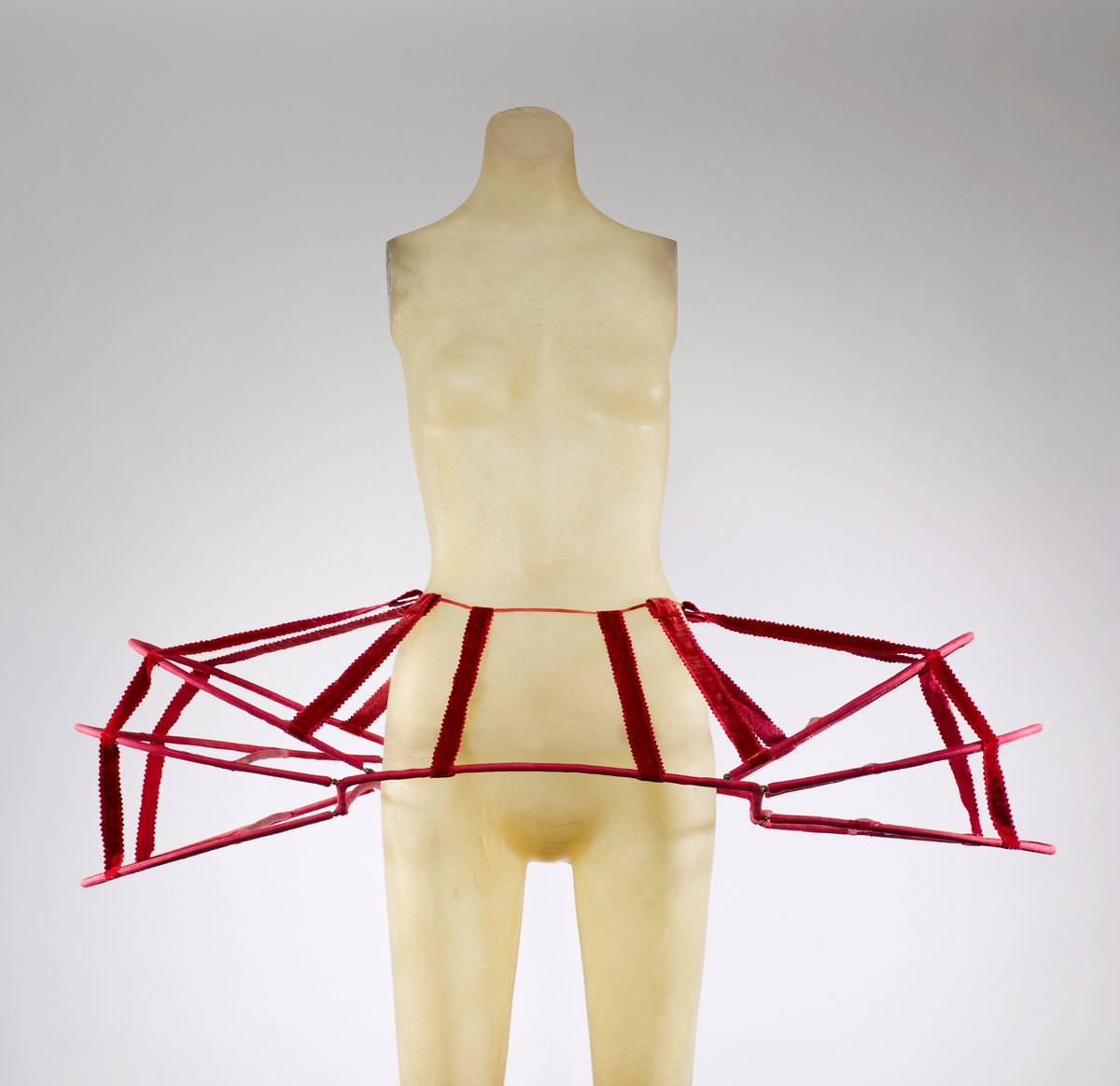 A pair of panniers to add shape to a dress. It looks very architectural.
