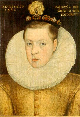 James I of England, at the age of 20, in cloth of gold.