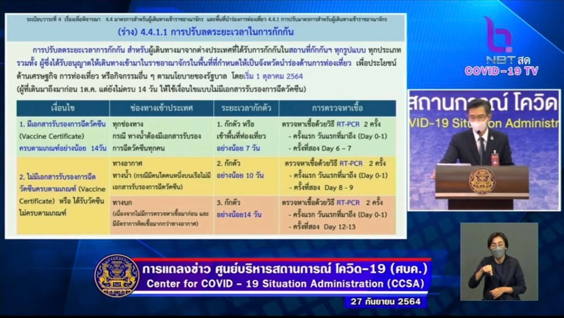 Great news. Starting from 1st October, anyone coming to #Thailand who is fully vaccinated need to only do 7 days quarantine whether it be in a hotel in Bangkok or on an island like Phuket or Samui. They also only need to do two RT-PCR tests. Full details in attached thread 👇