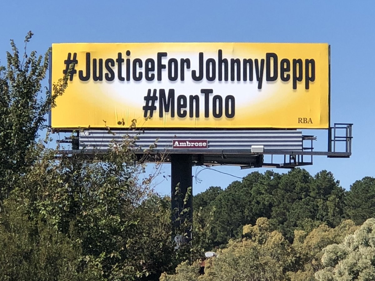 Johnny Depp's case against his ex-wife has changed the entire public's view and understanding of domestic violence survivors. Let's hope this translates to court actions to protect all survivors.  Billboard: #mentoo #JusticeForJohnnyDepp #FalseAllegationsAreAbuse