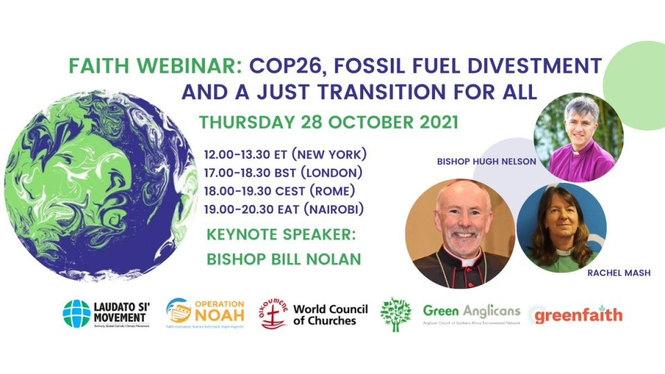 We're excited to invite you to a #divestment webinar on faith, @COP26, fossil fuels & a #JustTransition for all on Thurs 28 Oct at 17:00…