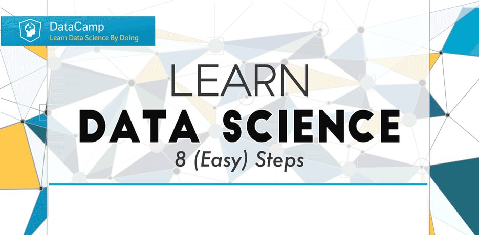 Learn #DataScience in 8 (easy) steps -  #rstats #Python #BigData