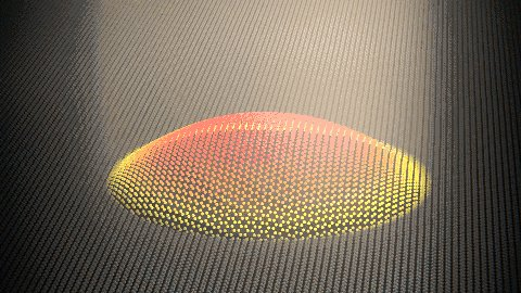 Dutch scientists use color-changing graphene bubbles to create 'mechanical pixels'