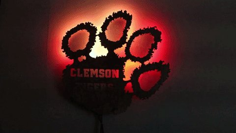 The WallPaw is an Arduino-powered, backlit @ClemsonUniv Tiger Paw: