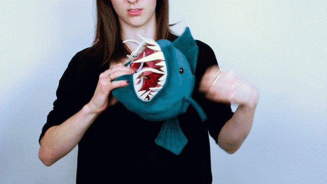 Image for the Tweet beginning: Morris: a reversible stuffed anglerfish