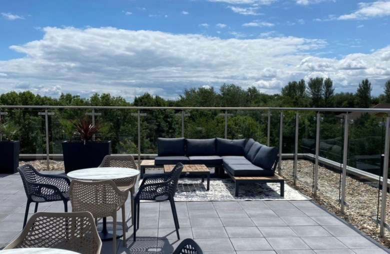 Rooftop terrace, The Oaks PBSA