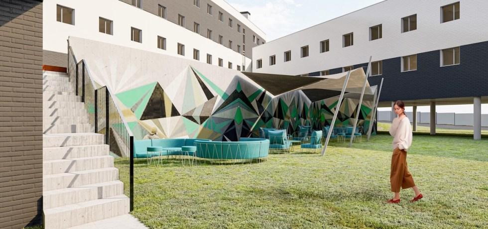 Outside Salamanca's purpose-built student accommodation scheme - Harrison Street | PBSA News