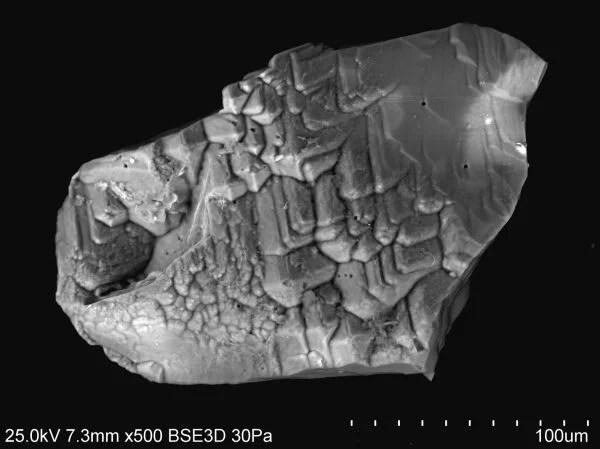10.3. detrytyczny granat pirop struktura trawienie trias Polska Monika Kowal-Linka - detrital garnet pirope texture etching Triassic Poland