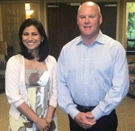 CEO of Pinnacle Rob Anderson and Priyanka Chauhan