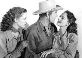 barbara-britton-randolph-scott-and-dorothy-hart-in-a-promo-for-gunfighters-1947