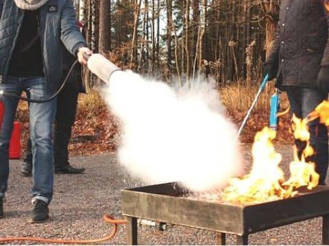 Ползване на пожарогасител