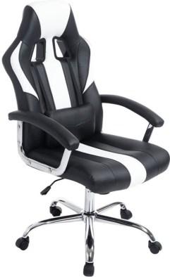 Clp Racing bureaustoel - Sport seat racer OLYMP - Gaming chair - zware belasting, ergonomisch - zwart/wit,
