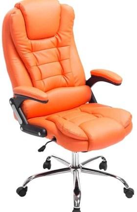 Clp Managerstoel - directiestoel THOR bureaustoel - ergonomisch, belastbaar tot 150 kg - oranje