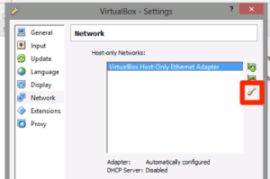 VirtualBox Edit Network