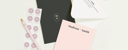 personalized stationery and note