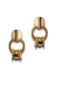 Retro Gold Earrings by Lizzie Fortunato for $103   Rent ...