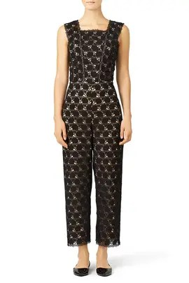 972720aaafb1 Yigal Azrouël Hibiscus Lace Jumpsuit ...