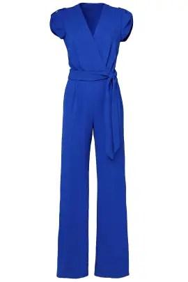 Diane von Furstenberg Blue Purdy Jumpsuit