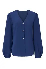 Fifteen Twenty - Blue Button Up Blouse