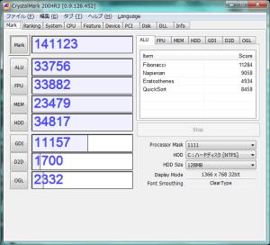 Core i5 540Mに交換しました。