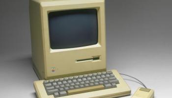 Apple Macintosh computer, model M001, c 1984.