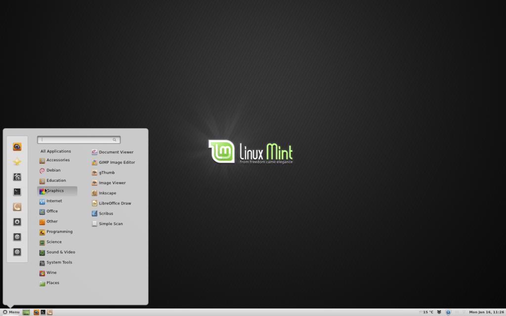 Linux のデスクトップ環境: Cinnamon