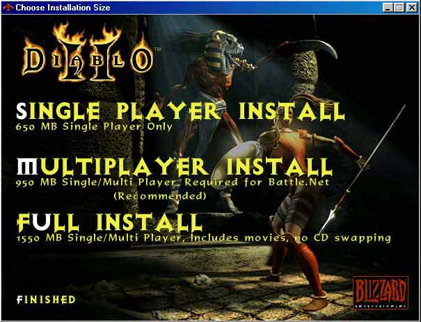 Installation of Diablo II