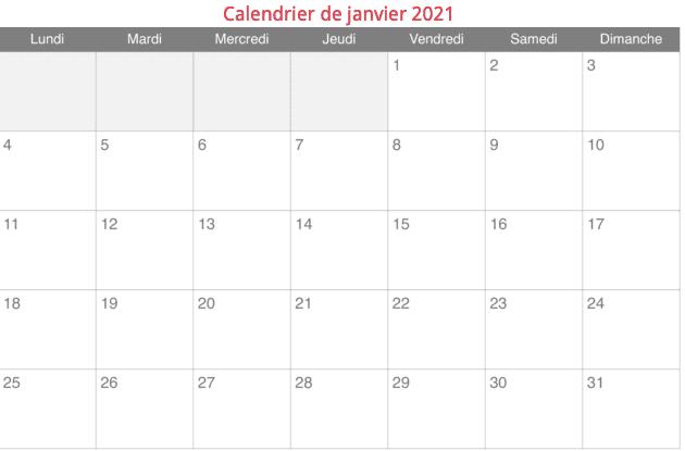 calendrier indispensable au rédacteur web indépendant