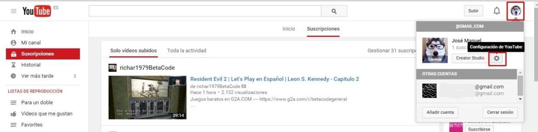 desactivar anotaciones youtube