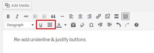 justificar un texto en WordPress