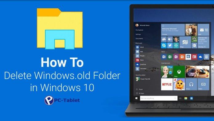 elete Windows.old Folder in Windows 10
