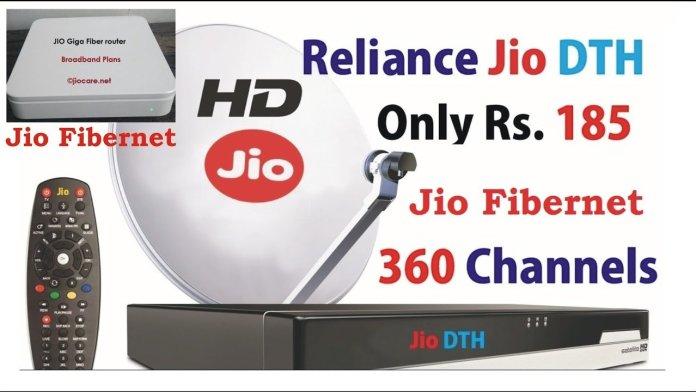 Reliance Jio DTH and Fibernet FDTH Broadband services plans