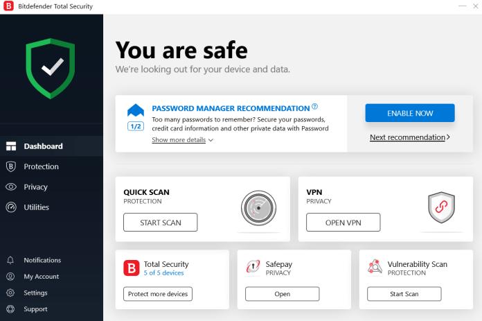 Bitdefender Total Security 2019 Home