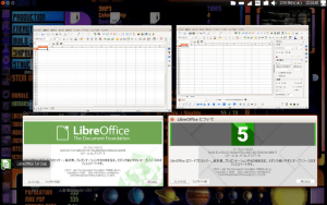 LibreOffice4.4.7(左)、5.0(右)