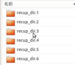 5-2-9:ike-dirの中に復旧されたデータがrecup_dirディレクトリとして保存されている。