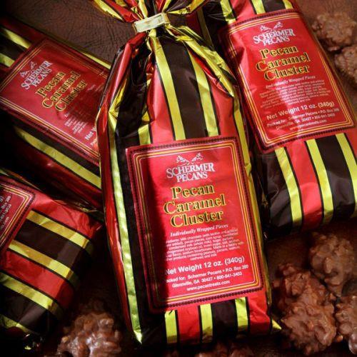 Chocolate Caramel Clusters Pecans