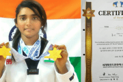 Aayushi Ajay Bhakta  bagged GOLD at 10th WORLD TAEKWONDO Culture Expo Competition,  Korea on 19th July, 2016