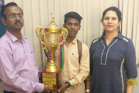 Rizwan Shaikh awarded Gold Medal in Kumite event in All India Shito-Ryu Open Karate Championship