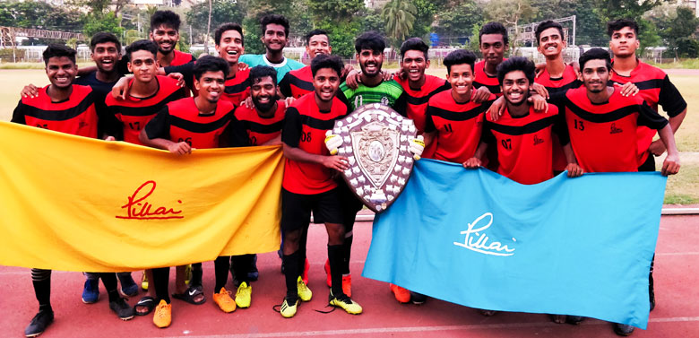 Pillai College crowed the 2018 Mumbai University Football Champions