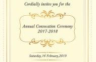 Convocation Ceremony 2017-2018