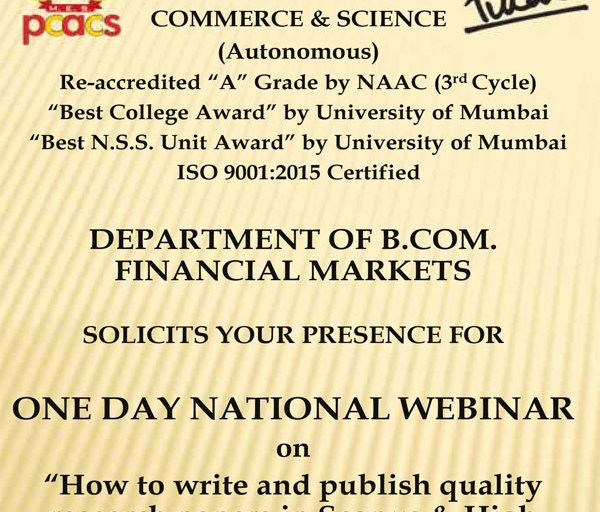 National Webinar on
