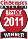 Best of Northwest Arkansas 2011 Winner by CitiScapes Magazine