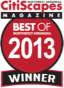 Best of Northwest Arkansas 2013 Winner by CitiScapes Magazine