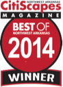 Best of Northwest Arkansas 2014 Winner by CitiScapes Magazine