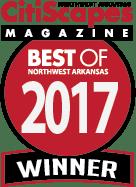 Best of Northwest Arkansas 2017 Winner by CitiScapes Magazine