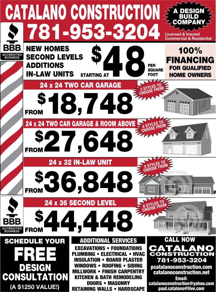 Catalano Construction Specials!