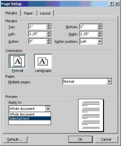 How to Use Portrait and Landscape Orientation in the Same Document in MS Word XP. - PCauthorities.com :PCauthorities.com