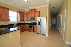 Stainless steel appliances in the gourmet kitchen