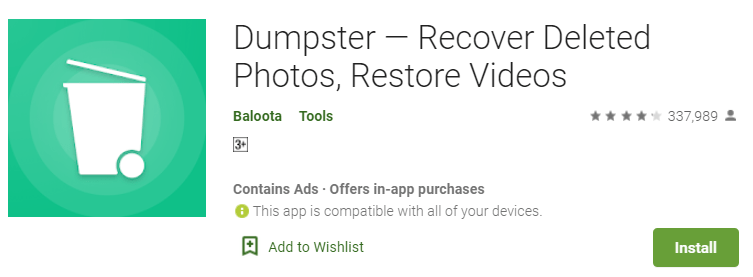Dumpster for PC and Mac OS