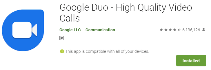 Google Duo for PC download using BlueStacks
